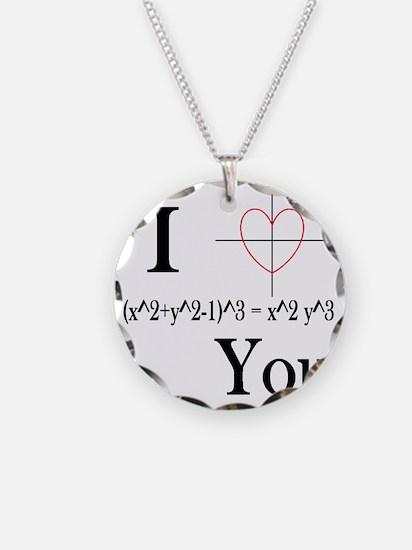 I (x^2+y^2-1)^3 = x^2 y^3 Yo Necklace Circle Charm