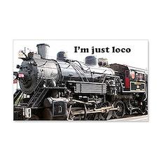 I'm just loco: steam train engine Wall Sticker