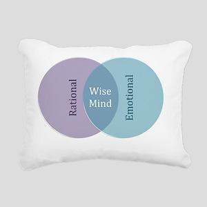 Wise Mind Rectangular Canvas Pillow