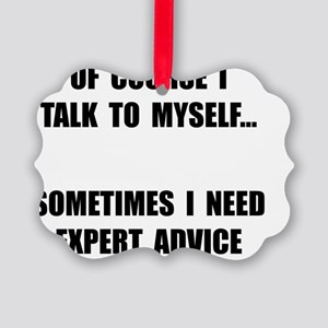 Expert Advice Picture Ornament
