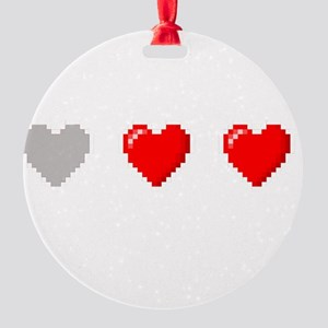 Video Game Life Round Ornament