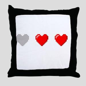 Video Game Life Throw Pillow