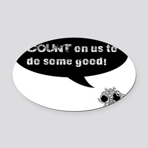 COUNT FSM Black Oval Car Magnet