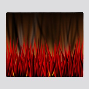 FLAMES OF FIRE Throw Blanket