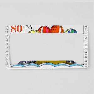 1989 Germany Juggling Seals P License Plate Holder