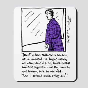 Sherlock Holmes Ponders Lunch Mousepad