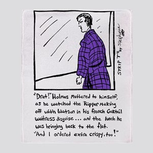 Sherlock Holmes Ponders Lunch Throw Blanket
