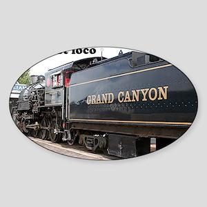 I'm just loco: steam train engine,  Sticker (Oval)