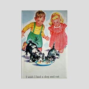 Vintage Pets Rectangle Magnet