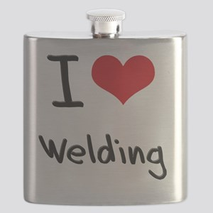 I Love WELDING Flask