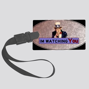 Uncle Sam Is Watching Large Luggage Tag