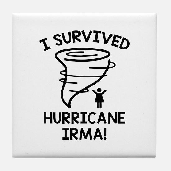 I Survived Hurricane Irma Tile Coaster