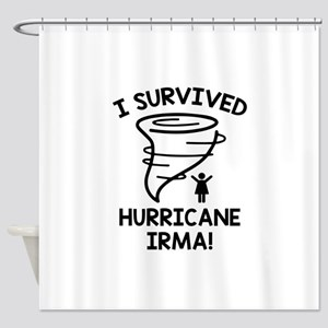 I Survived Hurricane Irma Shower Curtain