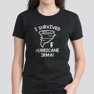 I Survived Hurricane Irma Women's Dark T-Shirt