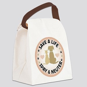 Save A Life Spay & Neuter Canvas Lunch Bag