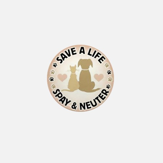 Save A Life Spay & Neuter Mini Button