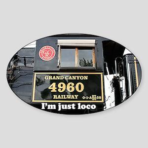 I'm just loco: train engine, Arizon Sticker (Oval)