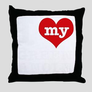 Green Anole pet designs Throw Pillow