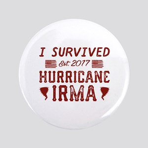 "I Survived Hurricane Irma 3.5"" Button"