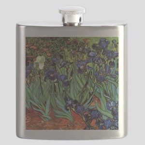 Irises by van Gogh Vintage Post Impressionis Flask