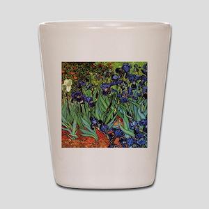 Irises by van Gogh Vintage Post Impress Shot Glass