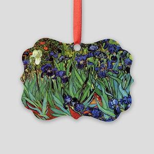 Irises by van Gogh Vintage Post I Picture Ornament