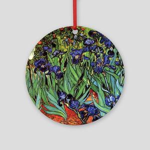 Irises by van Gogh Vintage Post Imp Round Ornament