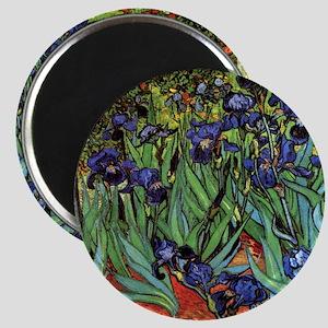 Irises by van Gogh Vintage Post Impressioni Magnet
