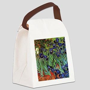 Irises by van Gogh Vintage Post I Canvas Lunch Bag
