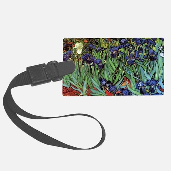 Irises by van Gogh Vintage Post  Luggage Tag