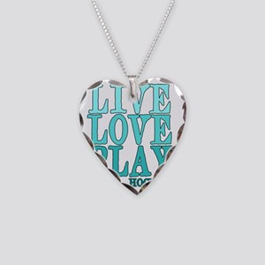 Live, Love, Play - Field Hock Necklace Heart Charm