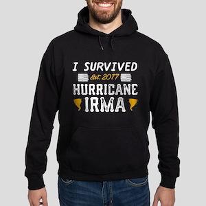 I Survived Hurricane Irma Hoodie (dark)