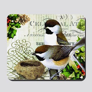 Heather Myers  WINTER GARDEN  cardinal a Mousepad