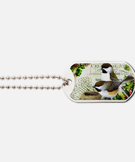 Heather Myers  WINTER GARDEN  cardinal an Dog Tags