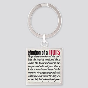 Definition of a Nurse Square Keychain