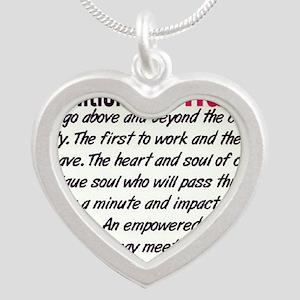 Definition of a Nurse Silver Heart Necklace