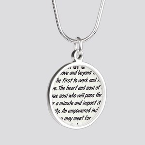 Definition of a Nurse Silver Round Necklace
