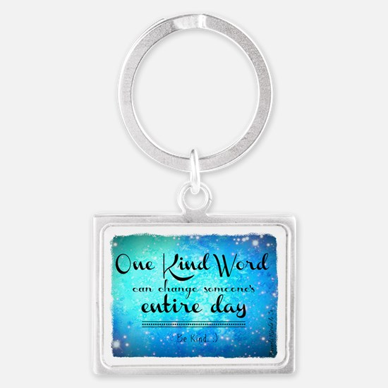 One Kind Word Landscape Keychain