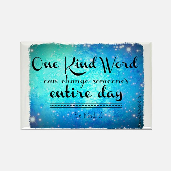 One Kind Word Rectangle Magnet