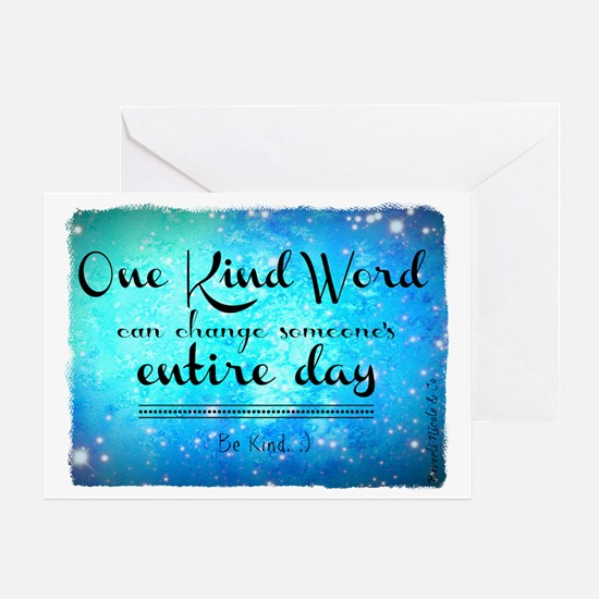 One Kind Word Greeting Card