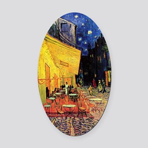 Van Gogh, Cafe Terrace at Night Oval Car Magnet