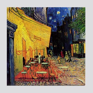 Van Gogh, Cafe Terrace at Night Tile Coaster