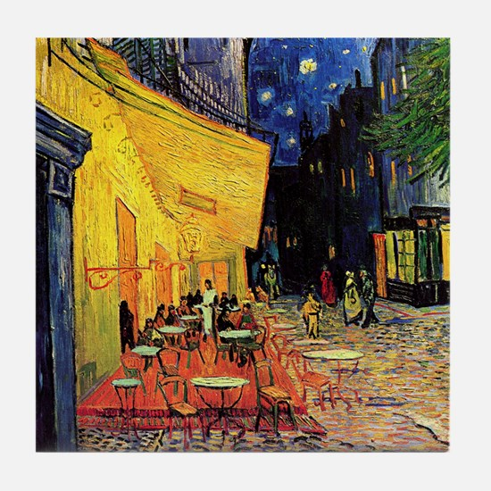 Van Gogh, Cafe Terrace at Night Tile Coaster