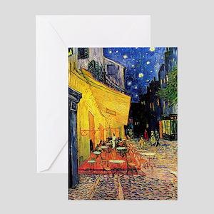 Van Gogh, Cafe Terrace at Night Greeting Card