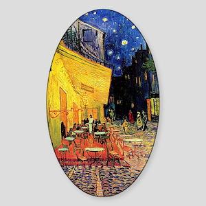 Van Gogh, Cafe Terrace at Night Sticker (Oval)
