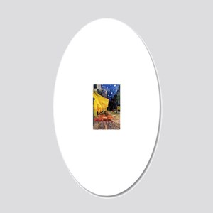 Van Gogh, Cafe Terrace at Ni 20x12 Oval Wall Decal