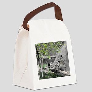 snow leopard Canvas Lunch Bag