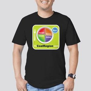 Coal Region Food Group Men's Fitted T-Shirt (dark)