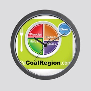 Coal Region Food Groups Wall Clock