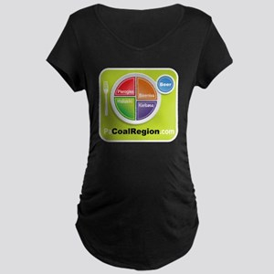 Coal Region Food Groups Maternity Dark T-Shirt